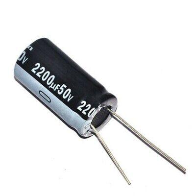 NEW 2pcs Sprague 2200uF 50v 80D Radial Electrolytic Capacitor
