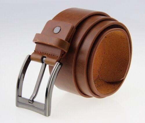 PERNO in lega da uomo con borchie fibbia Marrone Vestito Casual Ampio Cinture BT001