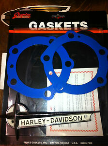PANHEAD-BLUE-TEFLON-HEADGASKETS-BY-JAMES-USA-MADE-TO-QUALITY-SOLD-AS-A-PAIR-ONLY