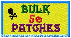 CUSTOM-MADE-TO-ORDER-SPECIAL-BIKER-EVENT-RALLY-PATCHES-50-BULK-DEAL