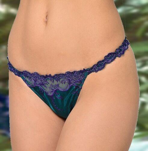 Lise Splendeur Turquoise String Soie Acc0580 Sexy Charmel rrF4xvB