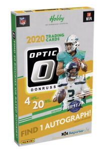 2020 Panini Donruss Optic Football 1 Individual Pack from a Hobby Box Pack Only