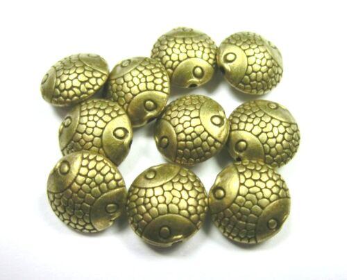 10 Spacer pièce 10 mm Métal Perles Couleur Bronze Métal entre perle #s455