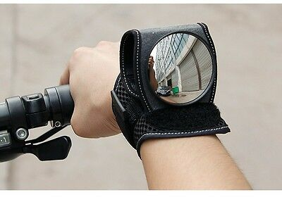 Mini Bike Wrist Rearview Mirror Bicycle Rear View Road Cycling Wristband Back