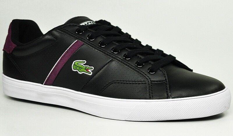 Lacoste Sneaker Fairlead Col SPM Schwarz/Purple Leder Leder Sneaker Lacoste Neu Gr:42 7-26SPM fd61e9