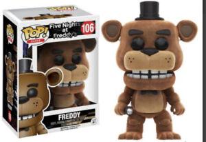 Funko-POP-FNAF-Friday-Night-At-Freddies-106-FLOCKED-FREDDIE-CASE-FRESH