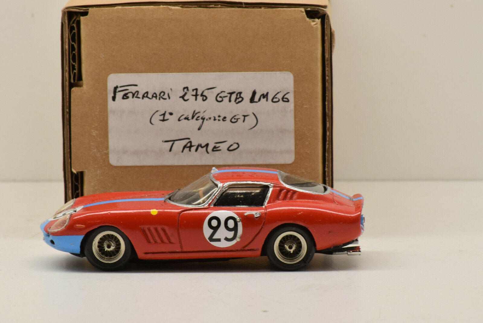KIT MONTÉ FERRARI 275 GTB LE MANS 1966 TAMEO 1 43