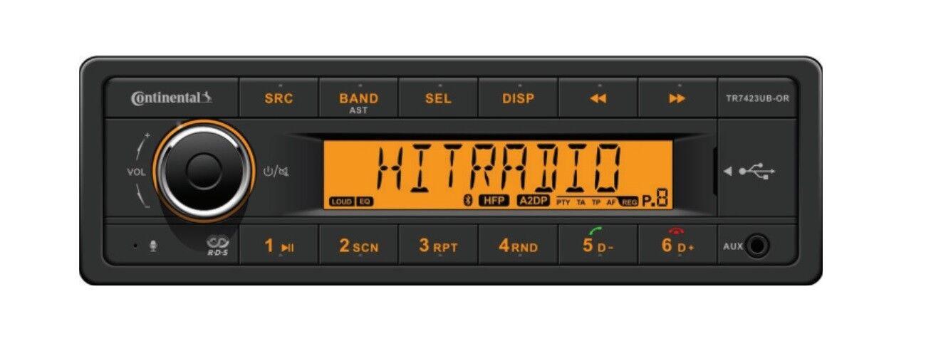 CONTINENTAL Radio USB MP3 WMA blutooth 24V BARCA TR7423UB-OR