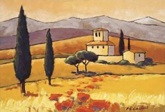 Mauro Cellini: San Giogio Fertig-Bild 50x70 Wandbild Toskana Italien Landschaft