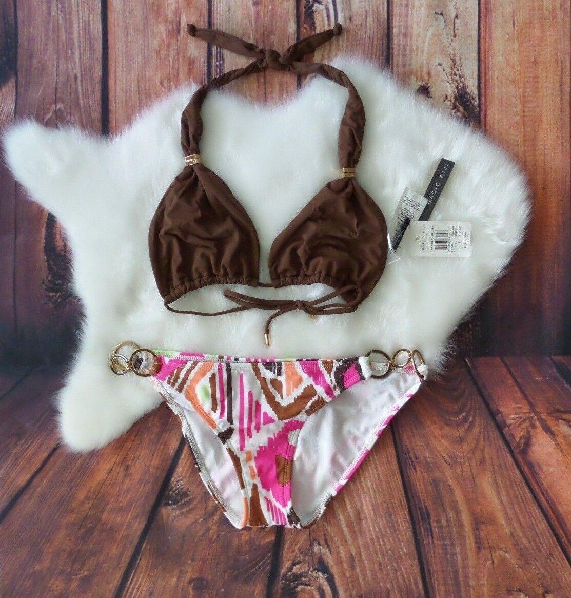 NWT Radio Fiji Womens 2pc Bikini Swim Suit Halter size L  94