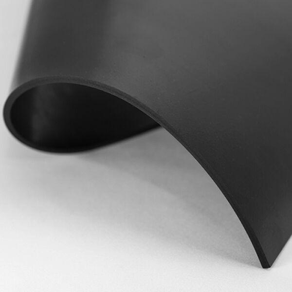2m² Gummiplatte gering ÖlBesteändig 1,20m x 1,67m, Stärke 4mm