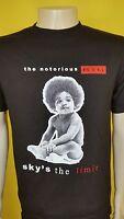 Sky ' S The Limit Black T-shirt Bad Boy Entertainment Tee Biggie Smalls Big