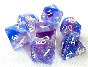 RPG-Wuerfel-Set-7-teilig-Poly-DND-Rollenspiel-dice4friends-w4-w20-Tabletop-Lila
