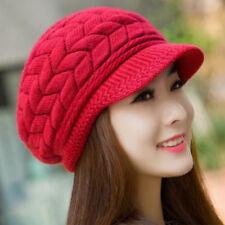 2018 NEW Women Beret Winter Knit Crochet Hat Lady Warm Baggy Beanie Ski  Chic Cap 40f710b17998
