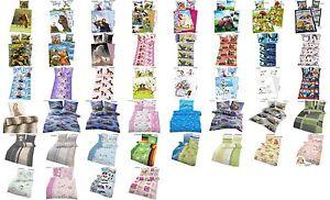 biber flanell bettw sche 135x200 100 baumwolle tiere eisk nigin auto dragons ebay. Black Bedroom Furniture Sets. Home Design Ideas