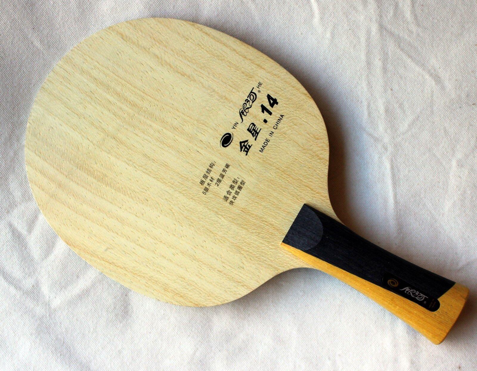 Yinhe/GALAXY Venus .14 V14 V-14 Tennis da Tavolo Lama, carbokev, spento, NUOVO, GBP