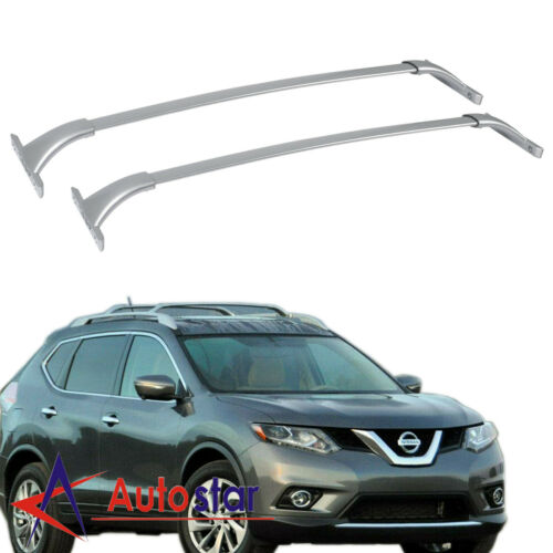 2x Top Roof Rack Cross Bar Carrier For 14-19 Nissan Rogue 2.0 2.5 w// Roof Rails