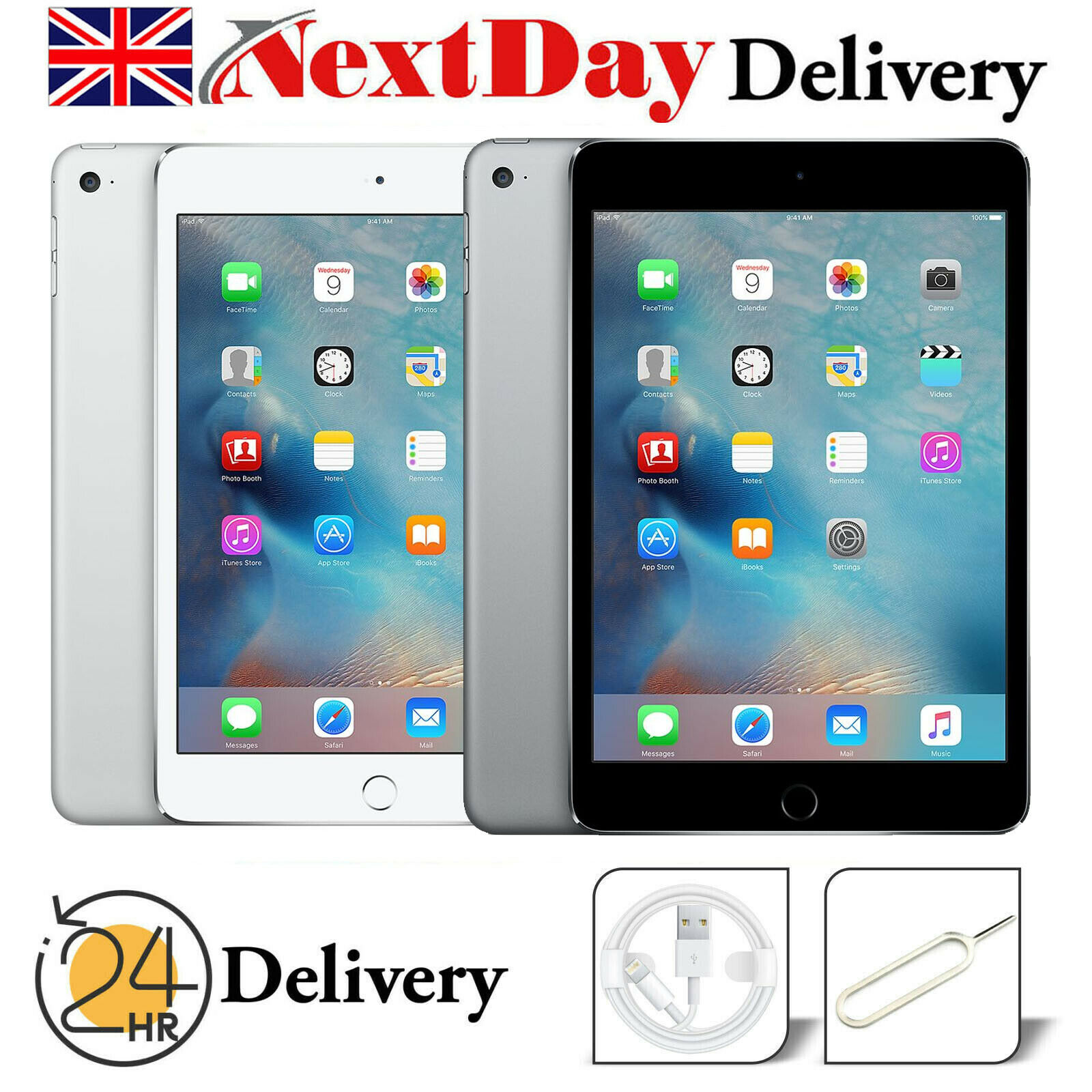 "iPad: Apple iPad 2 2nd Generation 9.7"" Retina 16GB 32GB 64GB WiFi + 3G Black White"
