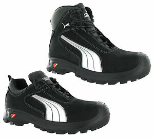 0891cef8241 Puma Cascades Mid Low Black S3 Safety Midsole Toe Cap Mens Trainers ...