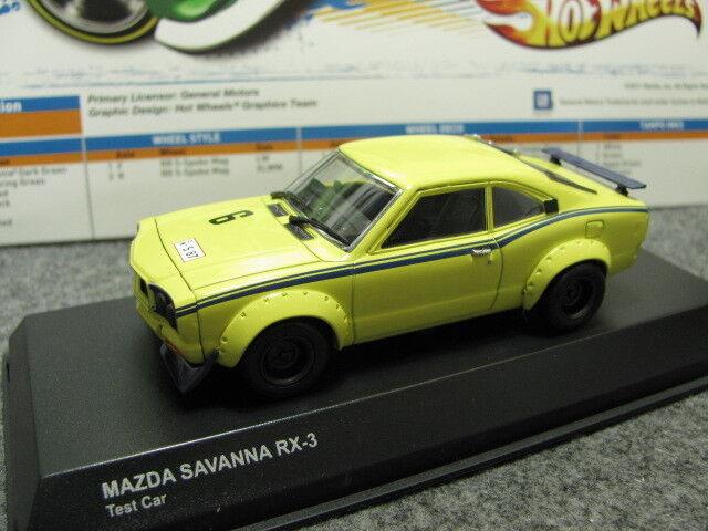 1 43 Kyosho Mazda Savanna RX-3 RX3 prueba Auto Diecast