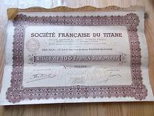 """titre français """" Société Française du Titane """""""