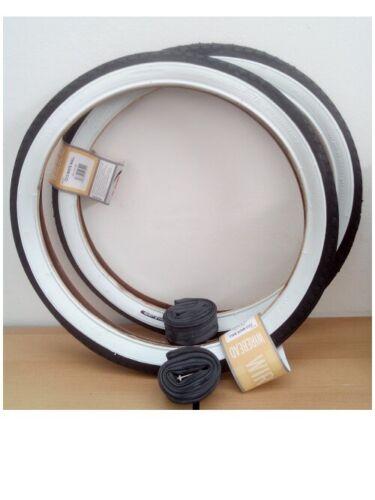 schwarz//weiß+2 Schläuche DV CST 2 x Weißwand Reifen 20 Zoll 20x1.75|47-406