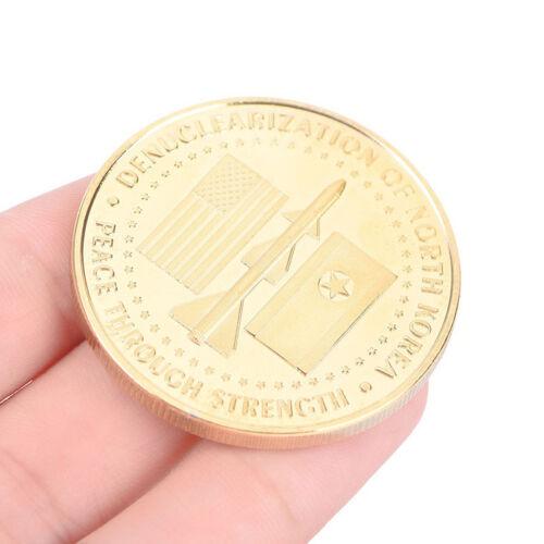 US President Donald Trump /& Kim Jong-un Peace Gold Plated Challenge Coin NIUS