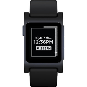 Pebble 2 + Heart Rate Smart Watch Black/Black 1002-00063