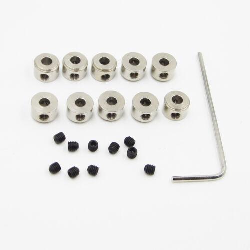 10PCS 3.05MM Bushing Axle Shaft Sleeve Stainless Steel for M3 RC DIY Bushings