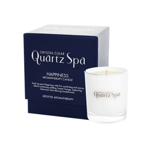 Crystal Clear Quartz Spa Aromatherapy Candle Happiness 30cl Ebay