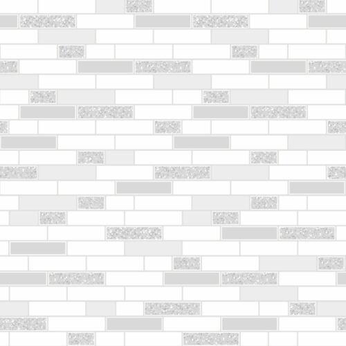 TILING ON A ROLL OBLONG GRANITE TILE GREY WALLPAPER HOLDEN 89193 GLITTER