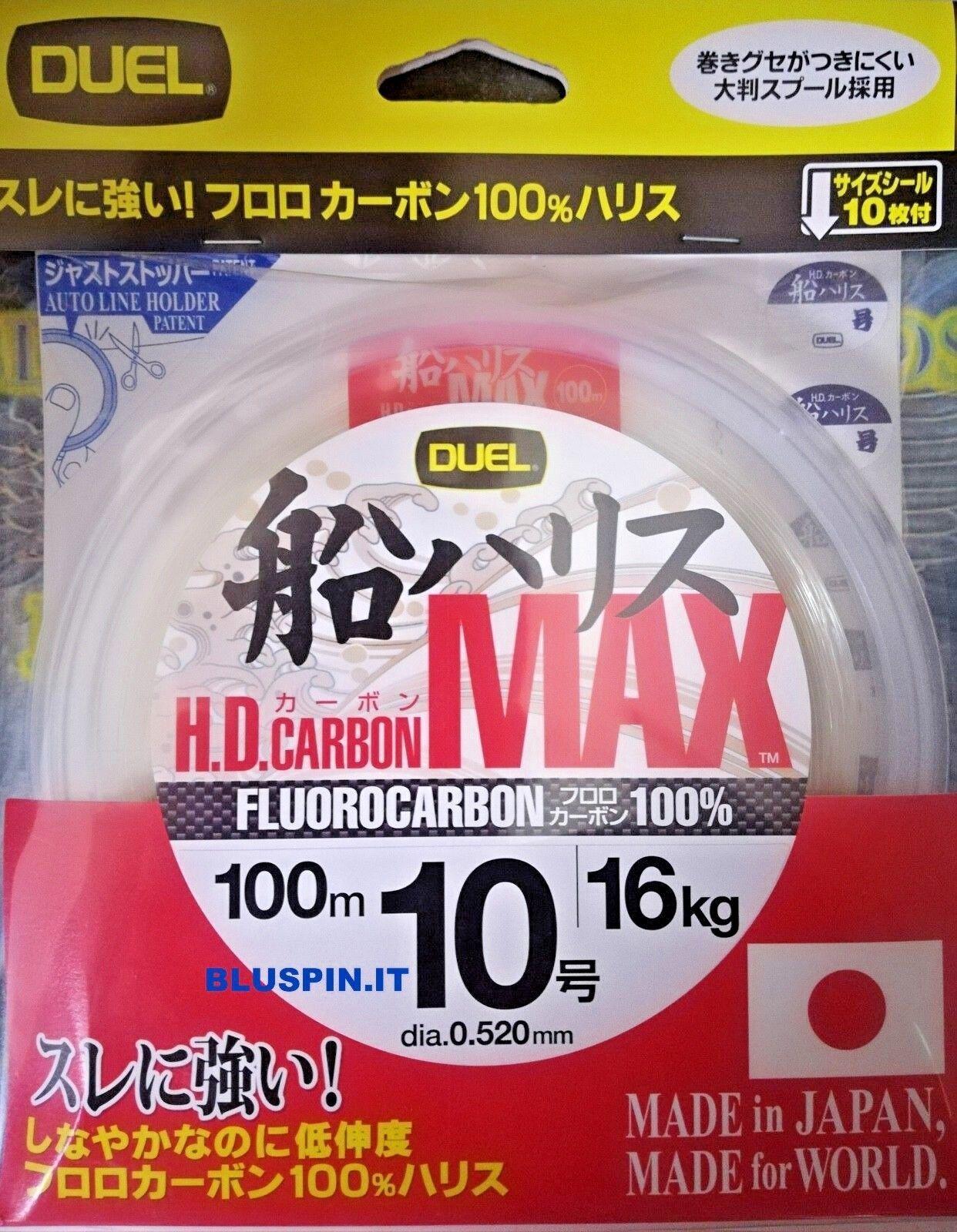 DUEL HD CARBON MAX  FLUgoldCARBON 100%  100m dia.10 0.520mm 16kg JAPAN