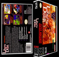 Liberty Or Death - Snes Reproduction Art Case/box No Game.