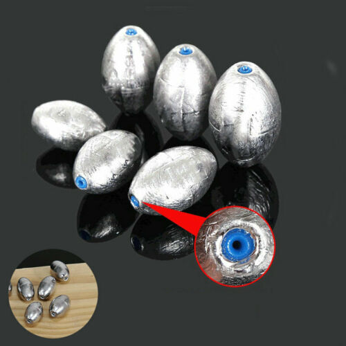 Fishing Weight Sinker Sinkers 100 Pcs Making Lead Pure Lead Olive-Shape Tackle