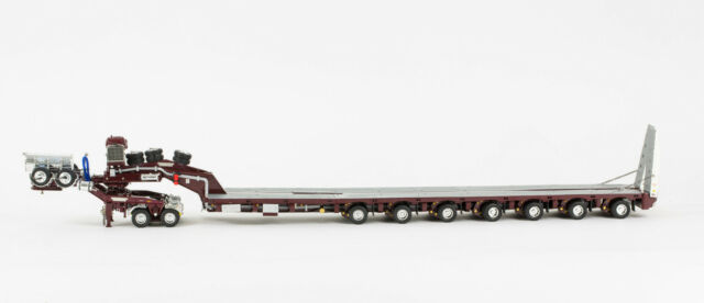 DRAKE 7x8 STEERABLE TRAILER with 2x8 DOLLY & 5x8 ACCESSORY CLIP SET - BURGUNDY