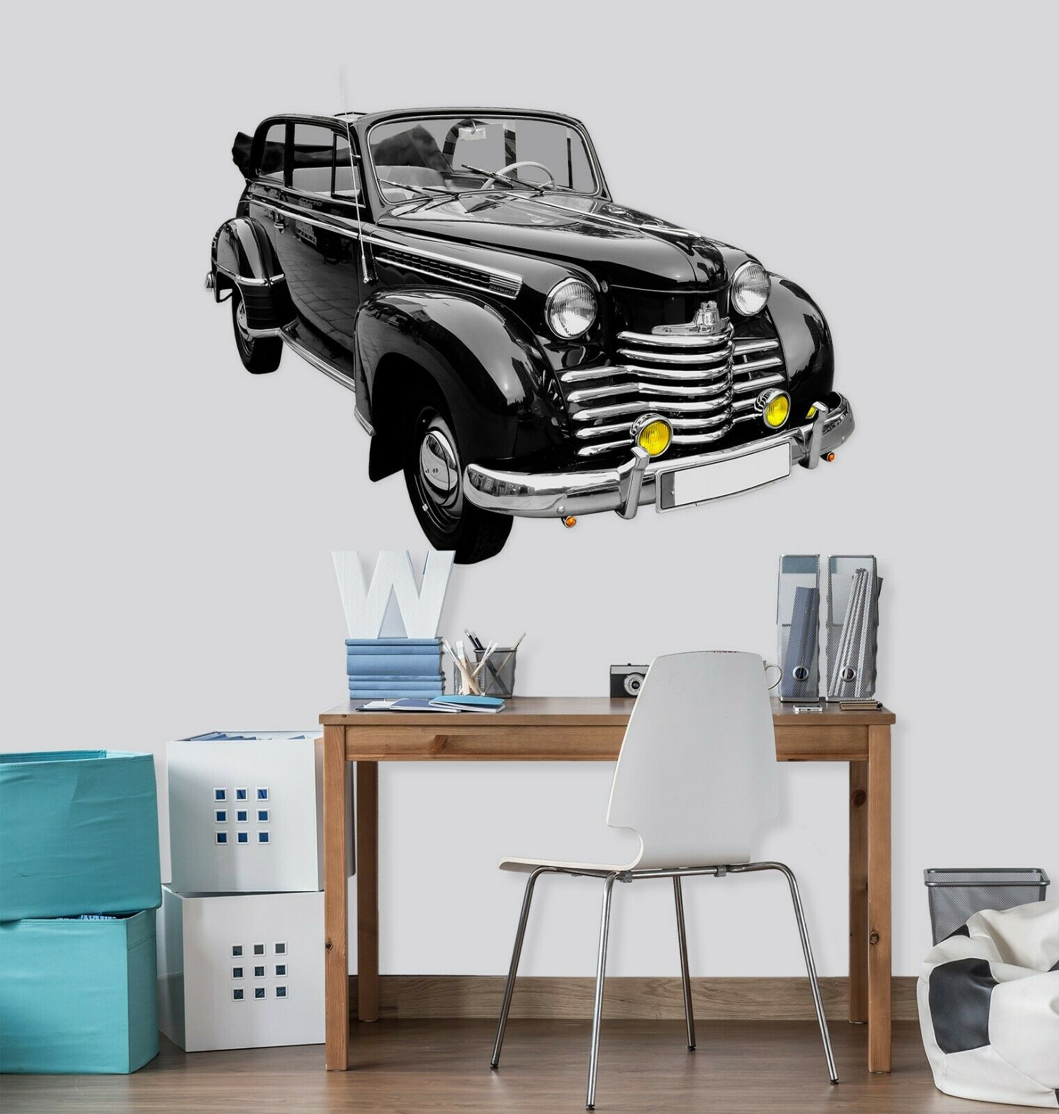 3D Oldtimer Cool G100 Car Wallpaper Mural Poster Transport Wall Stickers Wendy
