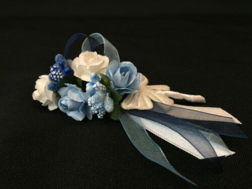 Blumen Anstecker Nadel Bräutigam Hochzeit Yaka Ignesi Cicegi Dügün Damat Blau