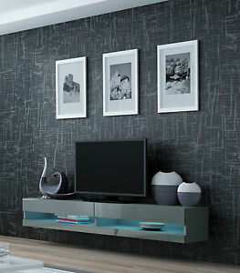 99774a6ad5b Image is loading TV-WALL-UNIT-TV-STAND-FLOATING-BENCH-034-