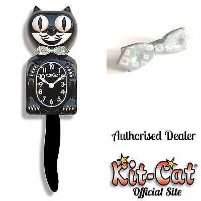 Holiday Sparkle Limited Edition Black Gentleman Kit Cat Clock 50s Rockabilly