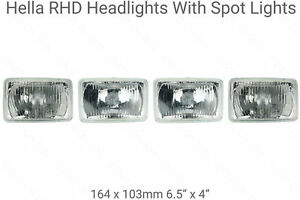 4-Rectangle-Halogen-Headlight-Headlamps-UK-RHD-Chevrolet-Impala-1976-to-1985