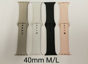 Apple Used iWatch Replacement Silicone Bands 40mm M/L, various colors