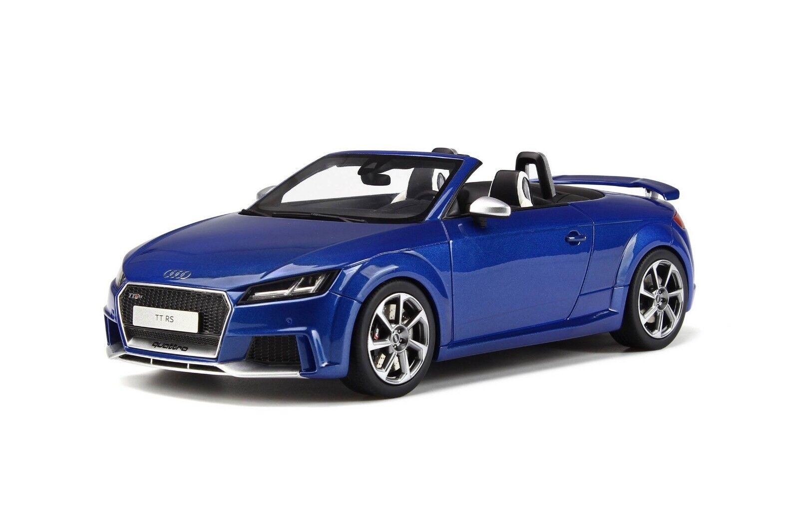 Descuento del 70% barato GT Spirit Audi TT RS Roadster Roadster Roadster 1 18 azul  lo último