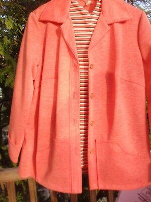 Bescheiden Vintage Damen 3 Stück Outfit Orange Neu Aus Altem Lagerbestand Größe 18.5 Klee Rheuma Lindern