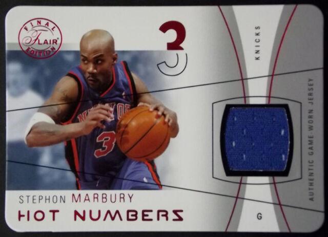 0bcb78eaf 2003-04 Flair Final Hot Numbers STEPHON MARBURY Rare Die Cut Jersey Rare SP