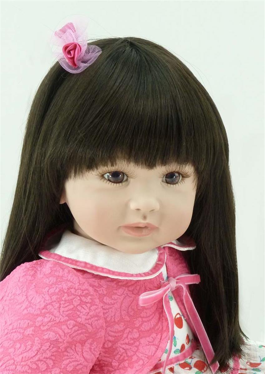 Hecho a mano niña recién nacido realista Reborn rosado de 22  de la muñeca del niño bebé niño De Vinilo