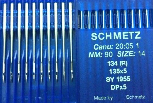 SCHMETZ DPX5 135X5 34 R SY1955 S=60//8 TO 160//23 INDUSTRIAL SEWING MACHINE NEEDLE