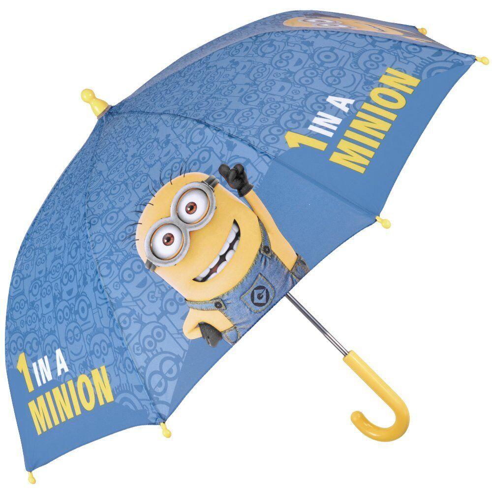 PERLETTI Despicable Me Minions Umbrella - Little boy umbrella, sky-blue and yell