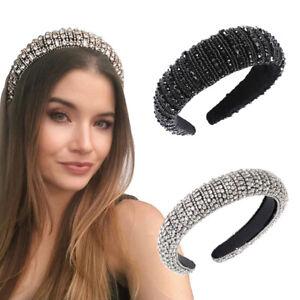 Baroque Women/'s Embellished Headband Jewelled Hairband Wedding Crown Tiara Party