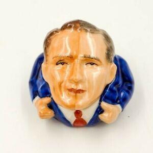 SPLIT-DECISION-Ceramic-Face-Pot-by-Kevin-Francis-excellent-GORE-BUSH-2001