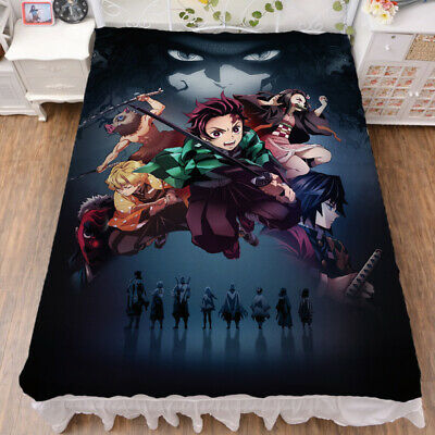 Japanese Anime Kimetsu no Yaiba Kamado Nezuko Bed Sheet Blanket 200x150CM #033